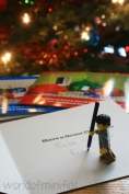 Bob thought it was about time he started writing his Christmas cards