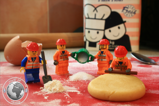 Baking biscuits required teamwork