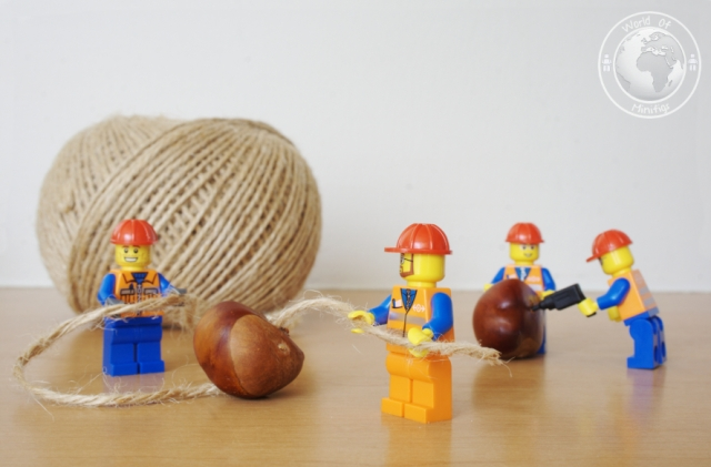 The workmen were busy getting ready for their annual Conker Championship Challenge.lego; minifigs; minifigure; photography; minifgure; worldofminifigs; world of minifigs;