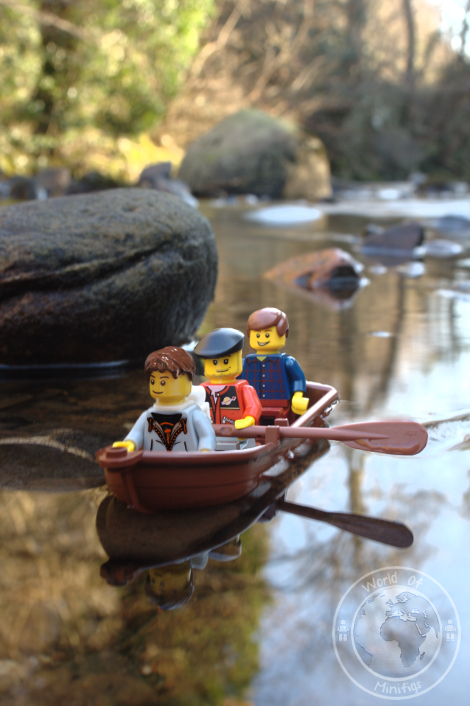 three men in boat; books; lego; photography; minifigs; minifigure; worldofminifigs; world of minifigs; book titles;