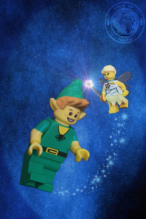 Peter Pan; J M Barrie; Tinkerbell; books; lego; photography; minifigs; minifigure; worldofminifigs; world of minifigs; book titles;