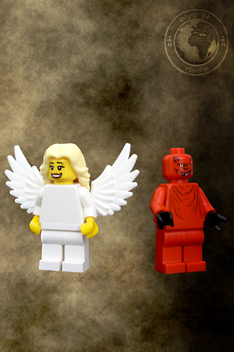 demon; angel; dan brown; books; lego; photography; minifigs; minifigure; worldofminifigs; world of minifigs; book titles;