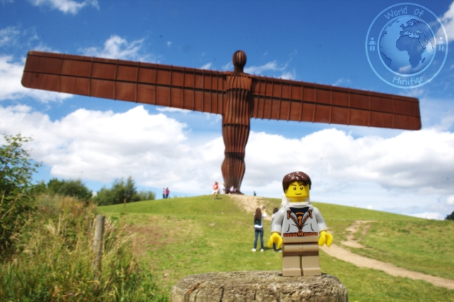 Bob stopped off for a spot of sightseeing whilst on his travels - The Angel of the North