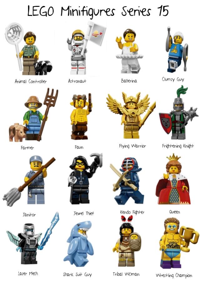 Series 15; lego; minifigs; minifigures